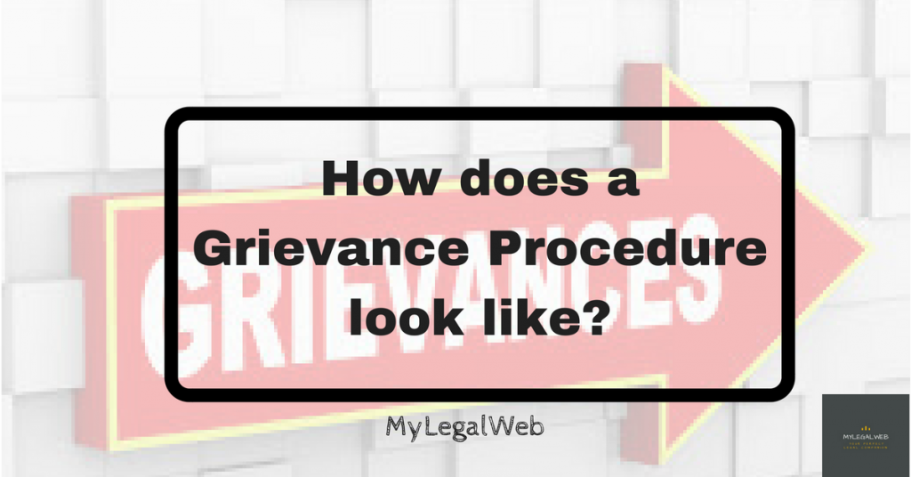 How Does A Grievance Procedure Look Like My Legal Web